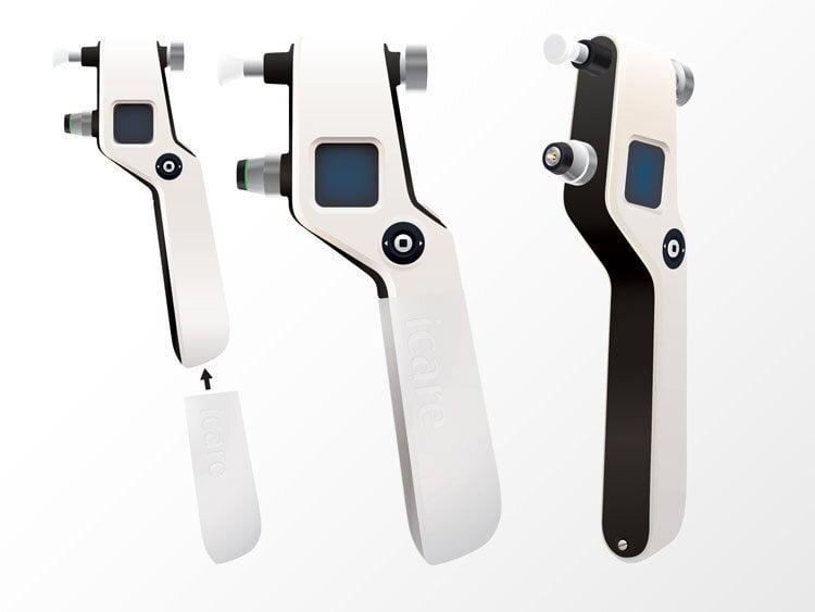 icare silmänpainemittari 3D-mallinnettuna ja animoituna