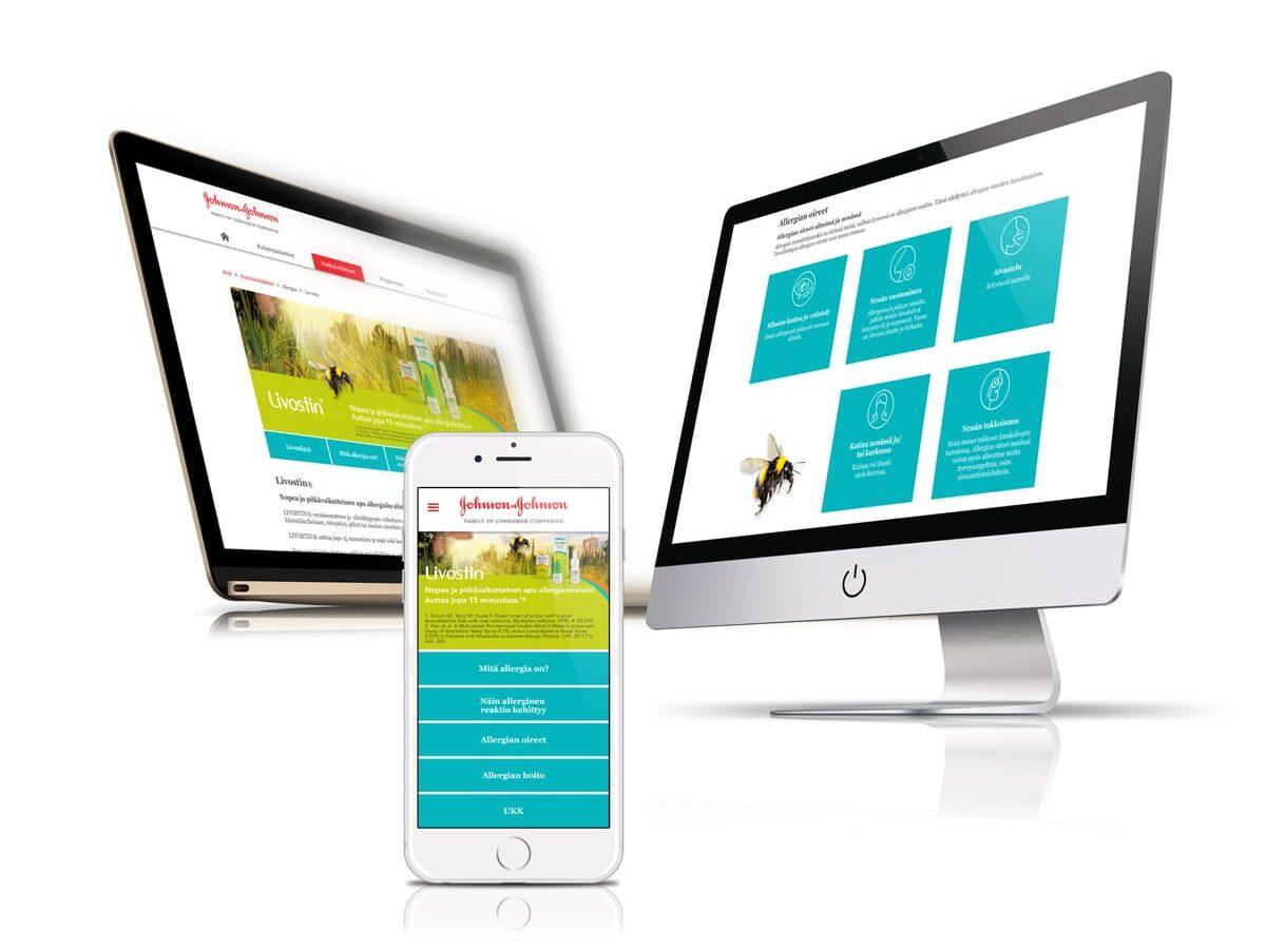 Livostin verkkosivu digimarkkinointikampanjaa varten