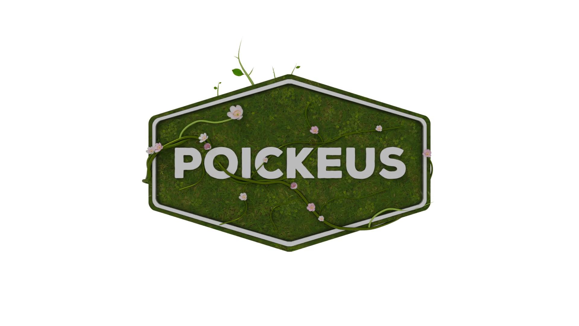 Poickeus logo ekologinen 3D-animaatio